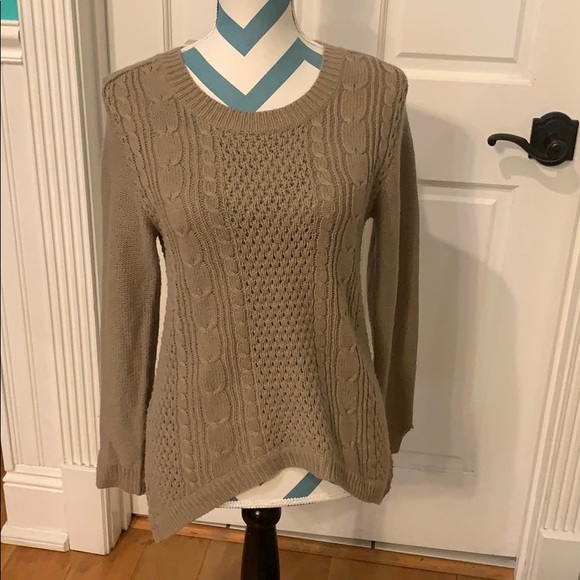 NWOT Ambiance Beige Sweater Size M